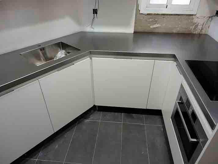 Encimeras de cocina precios affordable encimera de acero - Precio acero inoxidable ...