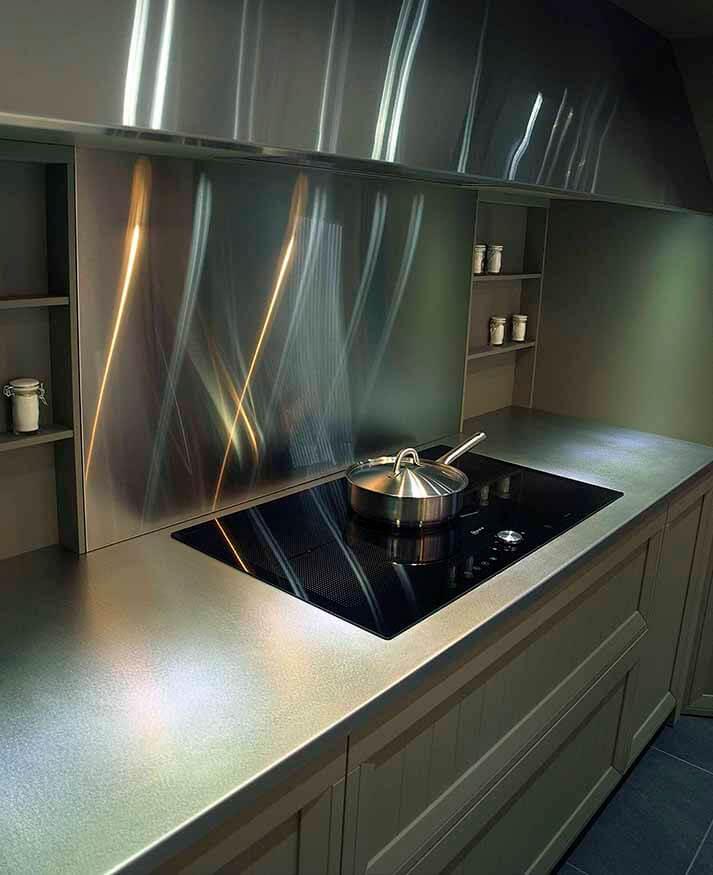 Dominox encimera de cocina de acero inoxidable en for Brochetas de acero inoxidable