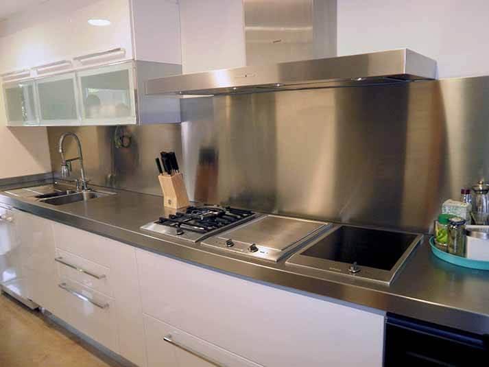 Dominox encimera de cocina de acero inoxidable en - Encimeras de acero ...