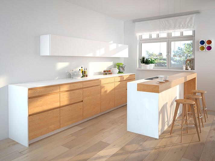 Dominox encimera de cocina en solid surface 7 - Encimeras de cocina de madera ...
