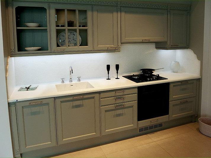 Encimeras de cocina encimera cocina marmol blanco deco - Remates encimeras cocinas ...