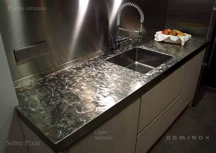 Encimeras de cocina de acero pixie