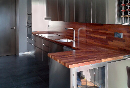 Encimeras de cocina de madera maciza